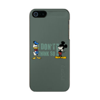 No Service | Mickey and Donald Metallic iPhone SE/5/5s Case
