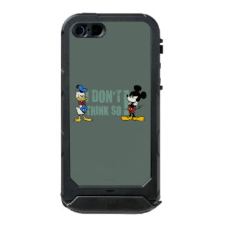 No Service | Mickey and Donald Waterproof iPhone SE/5/5s Case