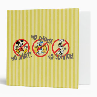 No Service   No Shirts or Shoes 3 Ring Binder