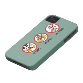 No Service | No Shirts or Shoes Horizontal iPhone 4 Cover