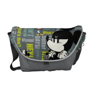 No Service   Upset Mickey Messenger Bag
