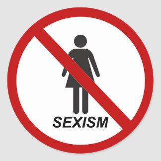 """No Sexism"" Classic Round Sticker"