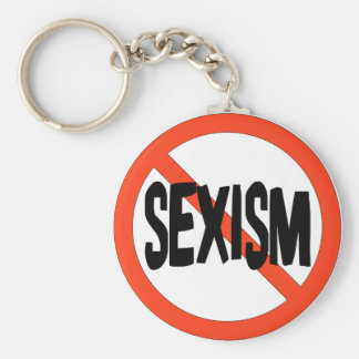 No Sexism Keychains
