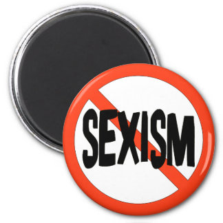 No Sexism Fridge Magnet
