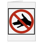 No Shadow Puppets Allowed Highway Sign Greeting Card