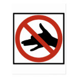 No Shadow Puppets Allowed Highway Sign Postcard