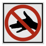 No Shadow Puppets Allowed Highway Sign Posters