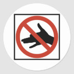 No Shadow Puppets Allowed Highway Sign Sticker