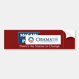 No Shame in Change Car Bumper Sticker