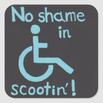 """""""No Shame in Scootin"""" Disability Pride Stickers"""