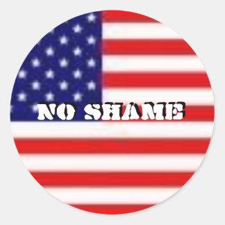 No Shame Round Sticker