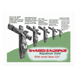 No Shared Sacrifice Postcard