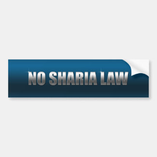 No Sharia Law Bumper Sticker