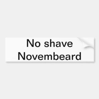 No shave Novembeard Car Bumper Sticker