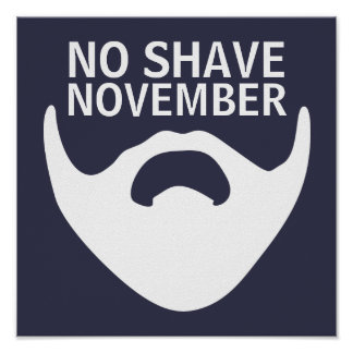 No Shave November | Cool Beard Style Poster