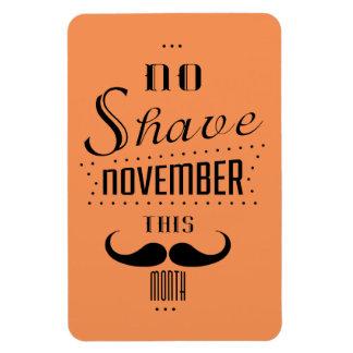 No Shave November Funny Text Design Magnet