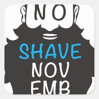 No Shave November Square Sticker