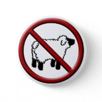 No Sheep! Pinback Button