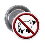 No Sheep! Pinback Button