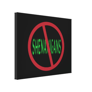 No Shenanigans Sign