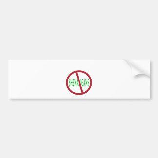 No Shenanigans Symbol Bumper Sticker
