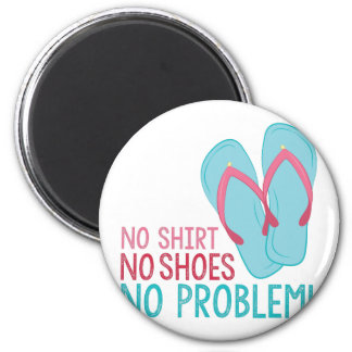 No Shoes 2 Inch Round Magnet