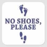 No Shoes Please, with feet sticker