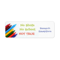 No shots No schools Label