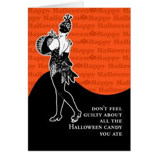 No sienta culpable sobre el caramelo de Halloween Felicitación