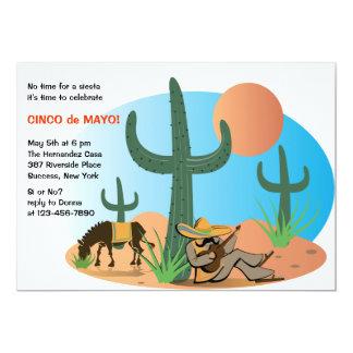 No Siesta It's Cinco de Mayo Invitation