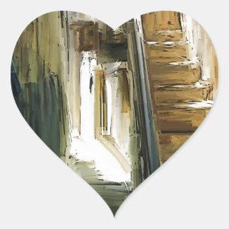 no siga en los pasos pegatina en forma de corazón