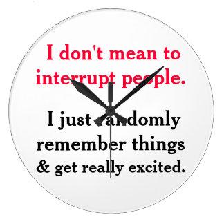 No significo interrumpir el reloj de la gente
