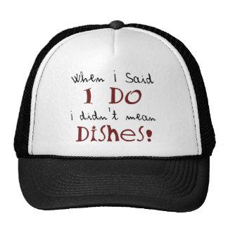 ¡No signifiqué platos! Gorro