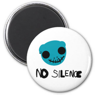No Silence 2 Inch Round Magnet