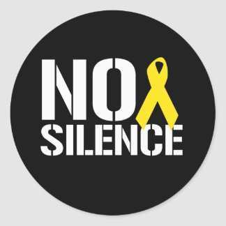 NO SILENCE ROUND STICKERS