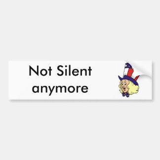 No silencioso más etiqueta de parachoque