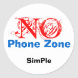 NO, SimPle, Phone Zone Stickers
