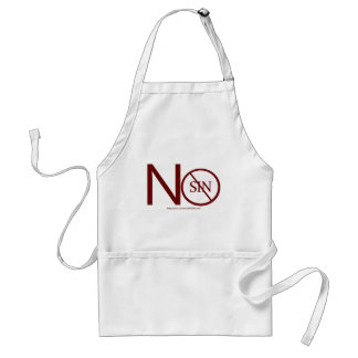 no-sin-RED2-tag Adult Apron