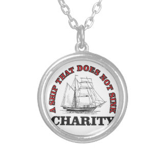 no sink charity silver plated necklace