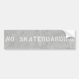 No Skateboarding sticker