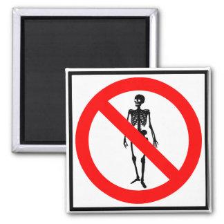 No Skeletons Highway Sign 2 Inch Square Magnet