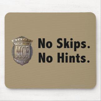 No Skips No Hints Black Mousepads