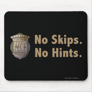No Skips. No Hints. Gold Mouse Pad