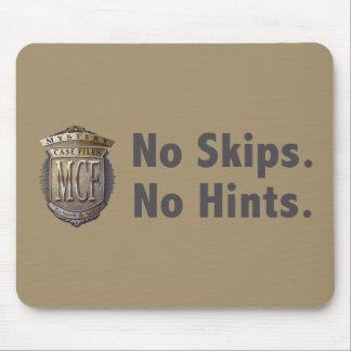 No Skips No Hints Grey Mouse Pads