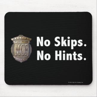 No Skips. No Hints. White Mouse Pad