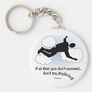 No Skydiving Keychain