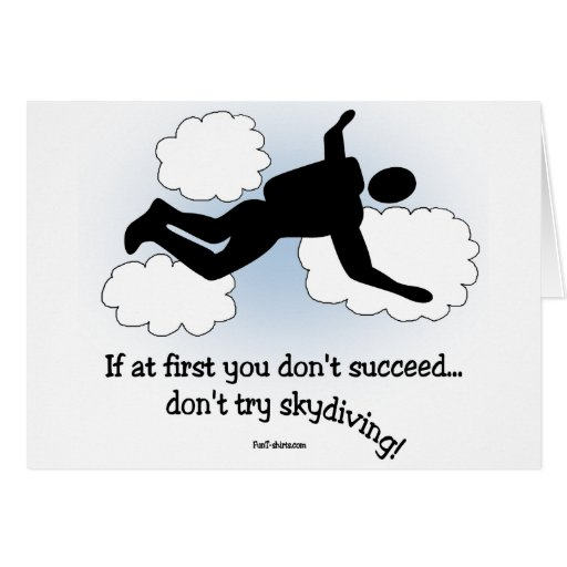 No skydiving notecards stationery note card