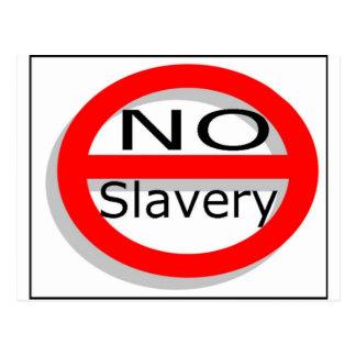 No Slavery Postcard