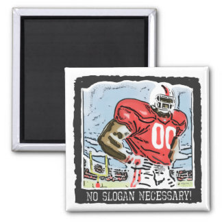 No Slogan Necessary Red 2 Inch Square Magnet