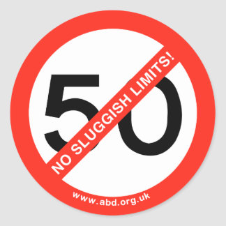 No Sluggish Limits Classic Round Sticker